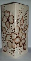 Vintage Large Floral Ceramic Vase By Elaine's Ceramics and Gifts