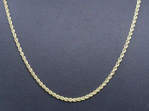 Halskette 585 GOLD 14 Karat Goldkette Kette necklace collier or Gelbgold oro