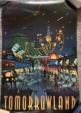 Walt Disney World - Tomorrowland Vintage Print 24x36 - Magic Kingdom