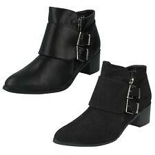Spot on Women's Textile Block Mid Heel (1.5-3 in.) Shoes
