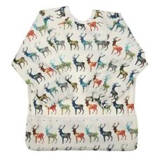 Baby Bib Feeding Waterproof Long Sleeve Shirt Painting Pocket Deer 1 to 3 years