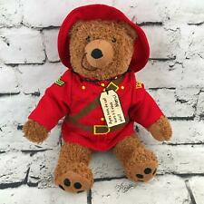 Paddington RCMP Canadian Mounted Police Plush Teddy Bear Red Uniform Soft Toy