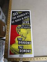 Rock Roll Concert Poster The Dragons The Demons Print Mafia S/N LE 40