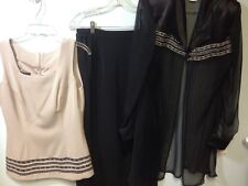 My Lady Charm Dress Suit 3 Pc Set Size 10 Skirt Blouse Suit
