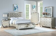 Bedroom Furniture Est King Size Bed Storage FB Unique Bedframe Silver Color