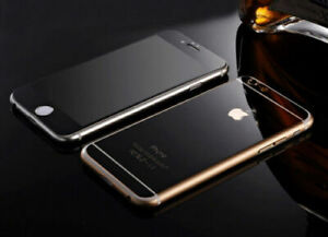 COLOR MIRROR EFFECT FRONT BACK TEMPER GLASS  PROTECTOR FOR IPHONE 7 - Black