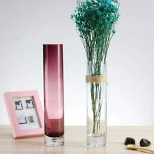KROSNO slim purple cylinder vase glass 22 cm Tabletop  Home wedding Decoration