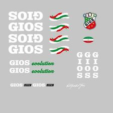 "Gios ""Evolution"" Bicycle Frame Stickers, Decals, Transfers - White n.4"