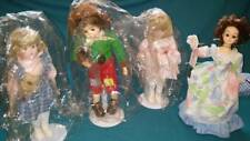 Lot of 4 Various Vintage Brinn's Ceramic Dolls on Stands w/ Musical Calendar
