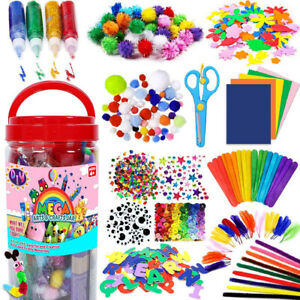 209PCSAll in One Arts and Crafts Supplies Kit Kids Crafting Collage Arts Set DIY
