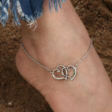 Sterling Silver Adjustable heart anklet Heart Anklet For Women S925