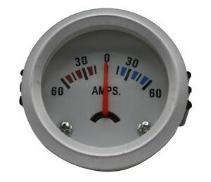 Amperemeteranzeige weiß Bootsinstrumente Batterieanzeige Ampermeter 12 Volt