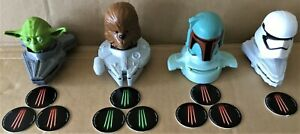 McDonald's 2020 Happy Meal Toys StarWars Lot of 4 Toys Yoda Boba Fett Chewy-More