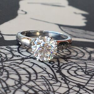 EDWARDIAN STYLE GIA CERTIFIED 1.50CT DIAMOND SOLITAIRE || Platinum Ring