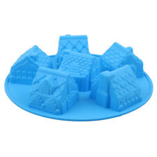 Silicone Christmas Party Cake Fondant Decor Mold House Cake Chocolate DIY Mould