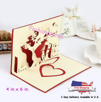 Mother Mother's Day 3D Pop Up Greeting Card Saying Love to MOM Thank you Gift