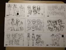 Gundam Build Fighters Try Settei Sheets Free Shipping
