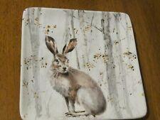 "New listing Certified International 8"" Square Rabbit Plate Woodland Walk Perfect"