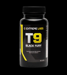 Extreme Labs T9 Black Fury, stronger Than T5/T6 Fat Burner 90 caps, pills