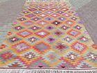 """Vintage Turkish Kilim, Teppich, Kelim Area Rug Handmade Wool Rug 78""""x124"""" Carpet"""