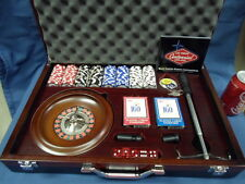1437M Las Vegas Centennial Official Multi Casino Games in Wood Box Exc Cond !