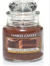 YANKEE CANDLE SMALL JAR CHOCOLATE LAYER CAKE USA WHITE LABEL VHTF