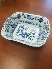 Rectangular Dish 19cm Original Blue Onion Pattern. Czechoslovakian Porcelain