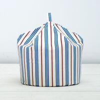 Blue Red Thin Stripe Cream Childrens Kids Cotton Seat Beanbag Bean Bag Filled