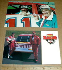 vintage NASCAR auto racing Baby Ruth Candy Junior Johnson handout postcard lot