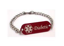 Children Medical Alert Bracelet ID Custom Engraved Diabetic 4 Colors Diabetes
