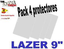 "Pack 4 Protectores pantalla para Tablet LAZER de 9"" 9 pulgadas Universal"