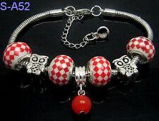 1pc beautiful charm bracelet fit porcelain beads S-A52