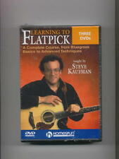 LEARN TO FLATPICK BLUEGRASS ACOUSTIC GUITAR - 3 DVD SET