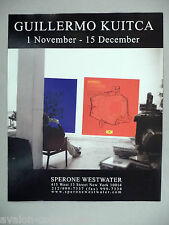 Guillermo Kuitca Art Gallery Exhibit PRINT AD - 2002