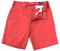 """Ralph Lauren Men's Classic Fit 9"""" Performance Stretch Shorts In Red Size 34W"""