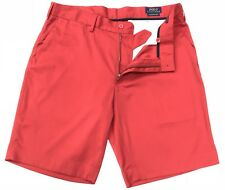 "Ralph Lauren Men's Classic Fit 9"" Performance Stretch Shorts In Red Size 34W"