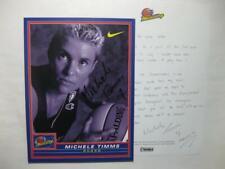 "Michele Timms Wnba Autographed Signed 7-1/2"" x 10"" Photo Phoenix Mercury Nike"