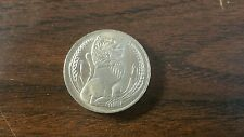 First Series - Singapore 1967 One Dollar  Lion Coin