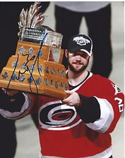 Cam Ward Signed Carolina Hurricanes Conn Smythe Trophy 8x10 Photo