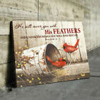 He Will Cover You With His Feathers Psalm 914 Canvas Christian Religious Bible V