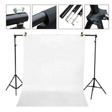 Studio fully adjustable backdrop support system 7 ft x 7 ft & 2 clamp backdrop