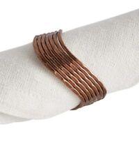 Pier 1 NWT ~ COPPER wave BRONZE Wavy metal napkin ring MODERN