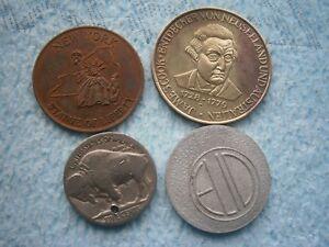 LOT BUFFALO NICKEL 5 Cents USA Coin NEW YORK STATUE LIBERTY JAMES COOK AUSTRALIA