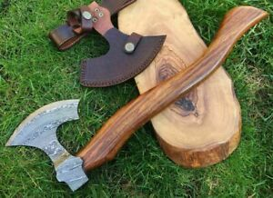 TITANs Handmade Damascus Steel Axe Hunting Camping Crafts Collectible 38cm XL2