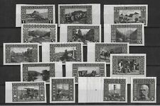 BOSNIA & HERZEGOVINA 1906 Unused NG Complete Set IMPERF Black PROOFS