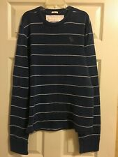 Abercrombie & Fitch Men's Muscle Shirt Blue Striped Size XL