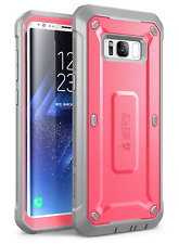 Full-body Rugged Holster Cover Unicorn Beetle Pink Case for Samsung Galaxy S8+