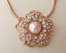 The Nolan Miller Glamour Collection Flower Necklace Pendant NIB