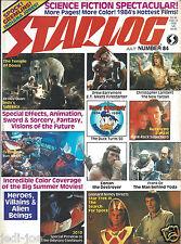 Starlog #84 Science Fiction Spectacular Indiana Jone Temple of Doom Gremlins