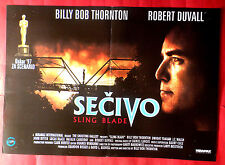 SLING BLADE 1997 BILLY BOB THORNTON J.T WALSCH ROBERT DUVALL EXYU MOVIE POSTER